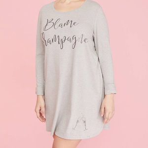 Lane Bryant Graphic Long-Sleeve Sleepshirt